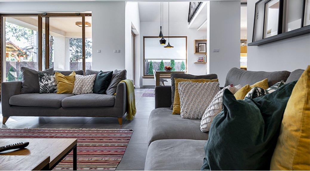 A smart living room.