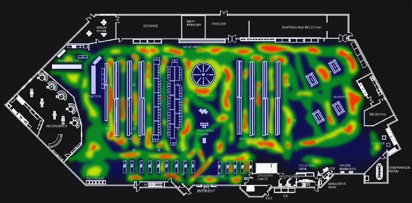 Floor plan heat map