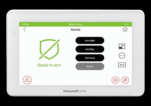 Honeywell 6290w touchscreen panel